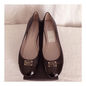 Marc Jacobs Black Leather Flats